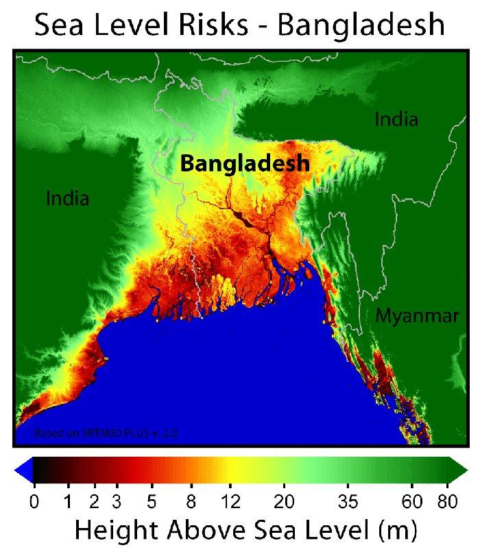 SeaLevel Rise - Louisiana sea level map